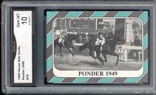 Ponder Horse Racing Star Cards Rare Rookie card Gem 10 #75