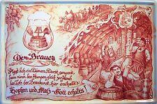 Occupazione Brauer Braumeister Segno Metallo Insegna ad Arco Stagno 20 x 30 CM