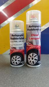 400ML AEROSOL VW LA7W Reflex Silver 2K Acrylic Basecoat Car Paint + LACQUER