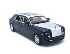 1:32 Rolls-Royce Phantom Metal Sound Light Pullback Model Car New in box Black
