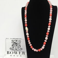 BOWERHAUS Rose Quartz Necklace - Keishi Pearl with 24K Gold Plated Clasp