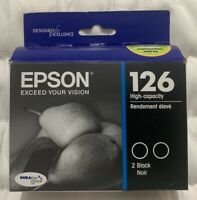 OEM Epson 126 Black High Yield Ink T126120-D2 (2 x T126120) Exp 2023 Sealed Box