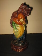 ANTIQUE HOLLAND FLEMISH POTTERY BARBOTINE HERFST AUTUMN PALISSY MAJOLICA 1880s