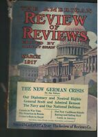 American Review of Reviews March 1917 Caribbean Islands Cattle Canada Navy