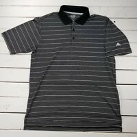 Adidas Climalite Golf Polo Shirt Mens Small Black Striped Short Sleeve P212