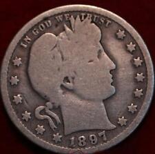1897-O New Orleans Mint Silver Barber Quarter