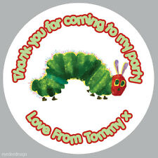 Personalised The Hungry Caterpillar Birthday Stickers Party Thank You Seals- 247