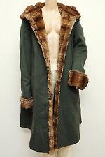 Top Zustand! ★★ STEINBOCK ★★ Mantel mit Webpelz Gr. M Londenmantel Trachten Coat