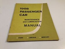 1968 Ford Lincoln Mercury Passenger Car Maintenance and Lubrication Manual
