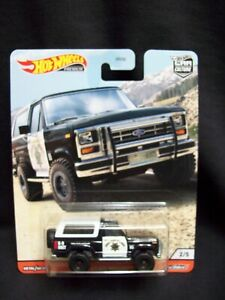 Hot Wheels Cruise Wild Terrain 1985 CHP Ford Bronco.