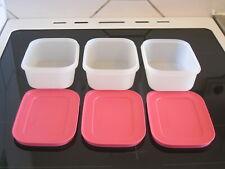 Tupperware          Gefrierbehälter       Eis Kristall        3 x 450 ml
