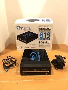 Plextor PX-B310U Blu-Ray BDROM DVDRW External Disc Drive Super Drive