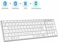 Multi-Device Bluetooth Keyboard for Mac OS,Jelly Comb Rechargeable slim wireless