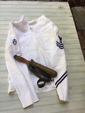 WW2 US Navy Divers Knife & Divers Jumper