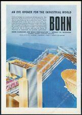 1946 streamlined future bus draw bridge ship art Bohn Aluminum vintage print ad