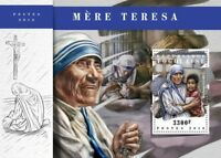 Togo 2018 MNH Mother Theresa 1v S/S Famous People Stamps