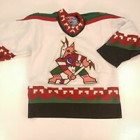 Boys Small Medium Vintage Phoenix Coyotes Jersey Genuine CCM 90's First Year