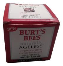 New Burt's Bees Skin Firming Night Creme - Damaged Box - Discontinued Version