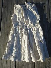 Crewcuts ~ Girls Ivory and Sparkle Floral Dress ~ Cotton Sleeveless ~ Size 7