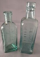 Vintage Bottle Bromley's Coffee Essence Bloomsbury Leeds & Triangular Bottle