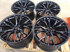 GM OEM 2016 Z06 ZO6 Black Corvette Wheels 19x10 20x12 Fits 06-13 Z06 Grand Sport