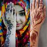 Indien Henna Tattoo Schablonen Kit Art Aufkleber für Hand Finger Füße Körper neu