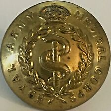 Royal Army Medical Corps Brass Uniform Button with King's Crown 1902-1952 26.4mm