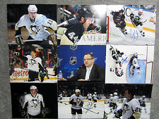 2009 Pittsburgh Penguins Stanley Cup TEAM SIGNED 18 Photo 8x10 Set Crosby Malkin