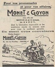 Z9065 Motos MONET & GOYON -  Pubblicità d'epoca - 1928 Old advertising