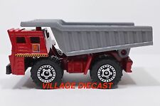 "2010 Matchbox ""Construction"" (Faun) Dump Truck RED/J CONSTRUCTION/MINT"
