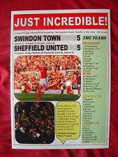 Swindon Town 5 Sheffield United 5 - Swindon at Wembley - 2015 - souvenir print