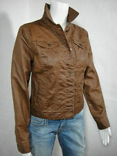 Lauren RALPH LAUREN Jeans Co. Classic Coated Denim Trucker Jacket Brown size PM