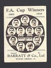BARRATT - F A CUP WINNERS - #7 PRESTON NORTH END