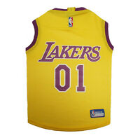 Los Angeles Lakers NBA Officially Licensed Pets First Dog Pet Mesh Yellow Jersey