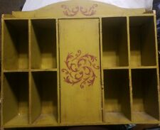 """vintage wood shelf retro~shelf shabby  books-toiletry -kitchen 18""""w15""""h X 4""""deep"""