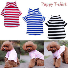 Summer Spring Pets Clothes Stripe  Dog Vests Puppy T-shirt for Small Dog Cotton