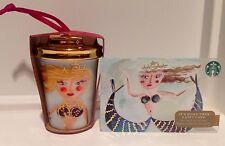 NEW STARBUCKS 2015 Christmas Ornament Siren Mermaid + Gold Lable Gift Card