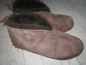 LLBean Men's Wicked Good Slippers Shearling Chocolate Brown Size 9