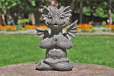 "Gartendrache ""Yogi"" - MystiCalls - Drachen Deko Figur Indoor Outdoor Yoga Lotus"