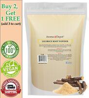 1lb Licorice Root Powder Raw Glycyrrhiza glabra 100% Premium Mulethi (Liquorice)