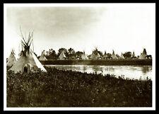 ⫸ 861 Postcard CROW CAMP ON LITTLE BIGHORN RIVER, Crow – Elsa Byron 1927 Photo