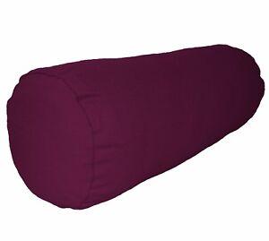 aa188g Light Burgundy Cotton Canvas Fabric Yoga Bolster Cushion Cover Custom Siz