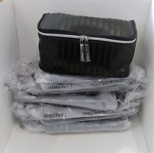 LOT OF 25 x LANCOME BLACK STRIPE MAKEUP BAG