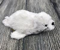 "Wild Republic White Baby Harp Seal Plush ~ 8"" Fluffy Bean Bag Stuffed Animal Toy"