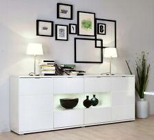 Kommode Sideboard Highboard Anrichte Schrank Glossy 5 in weiß / hochglanz weiß