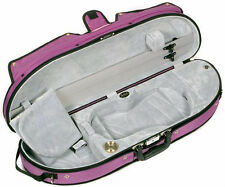 Bobelock Half Moon Puffy 1047P 4/4 Violin Case with Purple Exterior and Grey Int