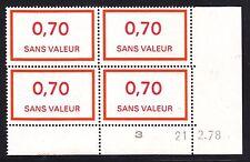 FRANCE TIMBRE FICTIF F211 ** MNH, coin daté 21.2.78, TB