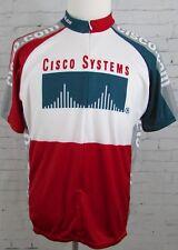 Mens Voler Cisco Systems Cycling Jersey Shirt Size XL