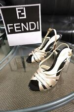Fendi Leather Pumps Heels..Size 38.5 (US 8.5)..Italy...AUTH...$815+!