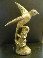 A VINTAGE,CAST BRASS SWIFT / SWALLOW FIGURINE. HEAVY CAST BRASS BIRD PAPERWEIGHT